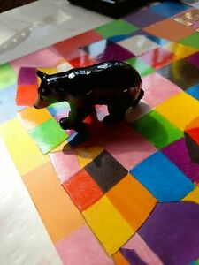 Young's black bear ornament, small bear  vintage, collectable