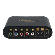 Adaptateur Convertisseur VGA + YUV Composante Y-Pb-Pr Vidéo + Audio vers VGA