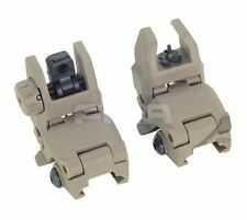 AIRSOFT GEN 1 BACK UP SIGHTS M SERIES IRON SIGHT DARK EARTH UK