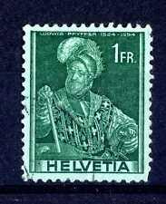 SWITZERLAND - SVIZZERA - 1941 - Personaggi storici: Pfyffer. B3468