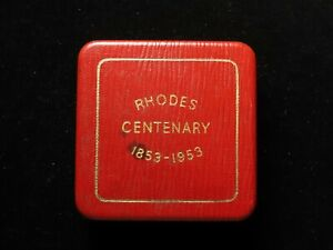 Southern Rhodesia, Rhodes Centenary Crown 1953 with case