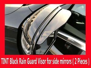 2x Black Universal Side Mirror Rain Guard Sun Visor Shade Shield (NISV04-13)