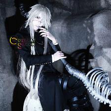 110cm Black Butler Kuroshitsuji Undertaker Silver White Anime Cosplay Wig + Cap