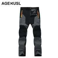 AGEKUSL Men Sports Pants Trouser Durable Hiking Camping Cycling Bottoms Pants