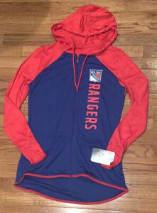 New York Rangers Fanatics Womens Forever Full-Zip Raglan Hoodie Jacket NWT Small