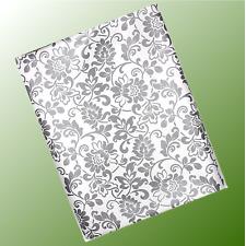 lebebsmittelecht Meterware Tischdecke abwaschbar Letter grau hellgrau 385-9039