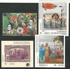 Venezuela: 1986-1992; lot of 4 different souvenirs sheet, mint NH. VE1706