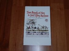 """ORIGINAL MOVIE POSTER """"THOSE MAGNIFICENT MEN IN THEIR FLYING MACHINES"""" 1965 WC"""