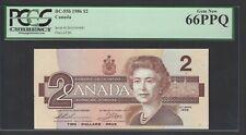 Canada  2 Dollars 1986 BC-55b Uncirculated Grade 66