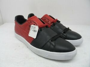 Puma Men's Clyde Colorblock Casual Athletic Shoes Black/Chili Pepper Size 9M