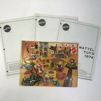 Vintage 1974 Mattel Toy Fair Catalog Dealer Price List Barbie Hot Wheel Redline