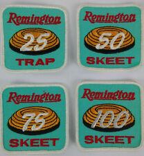 Remington Trap Skeet Shooting Patches Lot of 4 25 Trap, 50, 75, & 100 Skeet