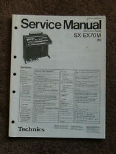Technics Electronic Organ Service Manual SX-EX70M Wiring Schematics SX EX 70M