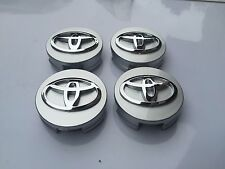 NEW  SET OF 4 SILVER WHEEL HUB CAPS 62MM CENTER WHEELS EMBLEM CAP LOGO