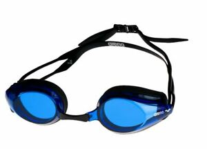 Arena Tracks Swimming Goggles - Black/Blue/Black