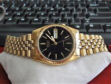 Retro 1994 Seiko Gold Tone Water Resistant 17-Jewels Mens Watch w/ 20mm Band!