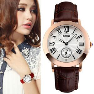 Ladies Watches Women's Waterproof Quartz Analogue Wrist Watch Leather Strap Gift
