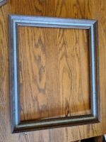 MID-CENTURY MODERN VTG AQUA TURQUOISE WOOD PICTURE FRAME 20X16/20X23 PAINTING