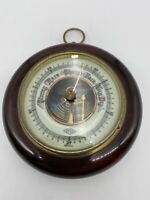 Vintage Round Barometer Germany Stormy Rain Change Fair Very Dry ATCO 1651