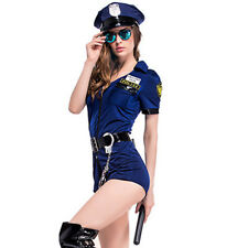 Halloween Cosplay Costumes Police Romper Crazy Party Cop Uniform for Women