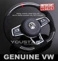 CARBON Alcantara Suede Steering Wheel Red Line for VW Golf MK7 GTi Polo Jetta