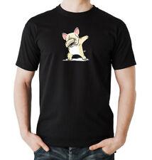 Dabbing Frenchie T-Shirt  Black tanzen, hund, party, dog,