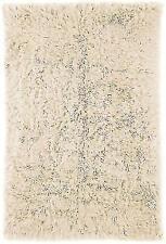 nuLOOM Natural Flokati Shag Rug  5' × 7' Beige soft