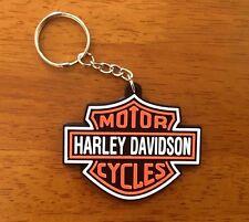MOTOR CYCLES HARLEY DAVIDSON Keychain Rubber Keyring Motor Racing Sport Gift New