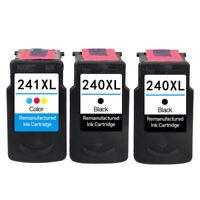 3 Ink Cartridges for Canon PG240 CL241 PIXMA MX512 MX522 MX532 MX372 MX392 MX432