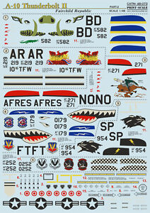 Print Scale 48-073 Decal for A-10 Thunderbolt Ii Part 2 - 1/48  scale