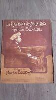 La Canción Las Ojos Cerrados R.buxeuil Partitura Poesie M.Boukay H.Delormel