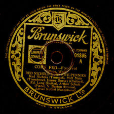 RED NICHOLS & HIS FIVE PENNIES Corn Fed / Mean Dog.. Schellackplatte 78rpm X3264