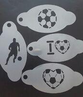 4 x  Football themed face paint stencils  reusable Chelsea Arsenal Man U Everton