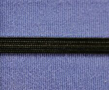 "Uniform Braid Trim Textured Flat Braid Trim Ribbon 1/4"" Black 10 yds #BG230"