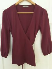 M&S Marks and Spencer pink fuchsia purple wrap cardigan cashmere feel UK 12