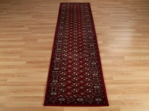 QUALITY RED RUST Traditional Afghan Tribal Bokhara Rugs Runner 100% Wool -35%OFF