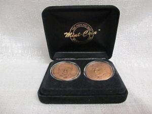 Mark McGwire Roger Maris Highland Mint Solid Bronze Home Run Heros 2 Coin Set