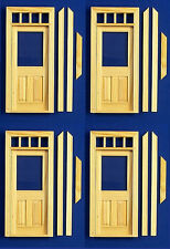 Dolls House 12th Scale Half Glazed Door Pack Of 4