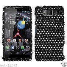 Motorola Droid Razr HD XT926 Snap-On Hard Cover Diamond Case Black White Dots