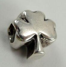Real Biagi Sterling Silver Shamrock Bead Italian #BS160