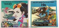 NOS 1971 Dodge His & Hers Sportsman Wagon Color Brochure MINT Condition