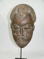 Holz Maske Alt Antik Punu Maske Gabun Afrika Eisenständer