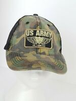 US Army Camouflage Mesh Ball Cap Hat Military Youth Adjustable