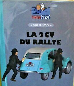 "TINTIN ET LA 2 CV DU RALLYE ""COKE EN STOCK""  (1/24 éme)-(LIVRET INCLUS)"