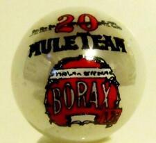 Very Nice 20 Mule Team Borax White Glass Marbles