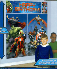 Avengers Iron Man Scene Setter Wall Banner Decorating Kit Birthday Party Supply