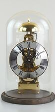 31 days Mechanical Manual Windup Skeleton Table Clock with transparent dome