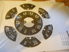 1950 1951 1952 1953 CHEVROLET GMC TRUCK SPEEDOMETER AND GAUGE FACE DECAL SET NEW