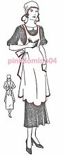 1930s Apron & Cap Pattern, Pre WW2, Medium Size, Bust 36 - 38 inches