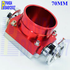 "2.75"" UNIVERSAL 70MM PERFORMANCE HIGH FLOW THROTTLE BODY INTAKE MANIFOLD RED"